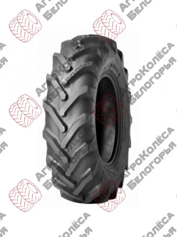 The tire is 12.4/11-38 122A8 6 B. C. 30413407AL-IN Alliance