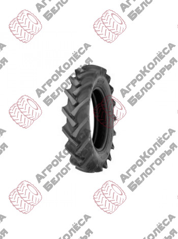 The tire is a 9.5-32 106A8 6 B. C. 32418190AL-IN Alliance